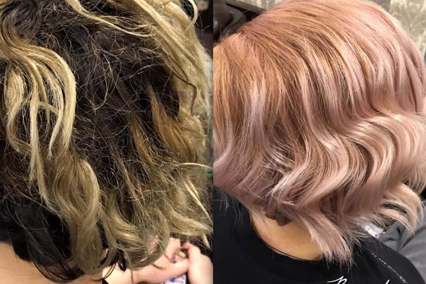 Gold Pink Color Change Αλλαγή Χρώματος Χρυσό Ροζ Before After