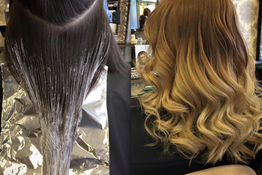 Ombre Balayaze Blonde Warm Color Color Change Natural Ζεστό Ξανθό Όμπρε Μπαλαγιάζ Φυσικό