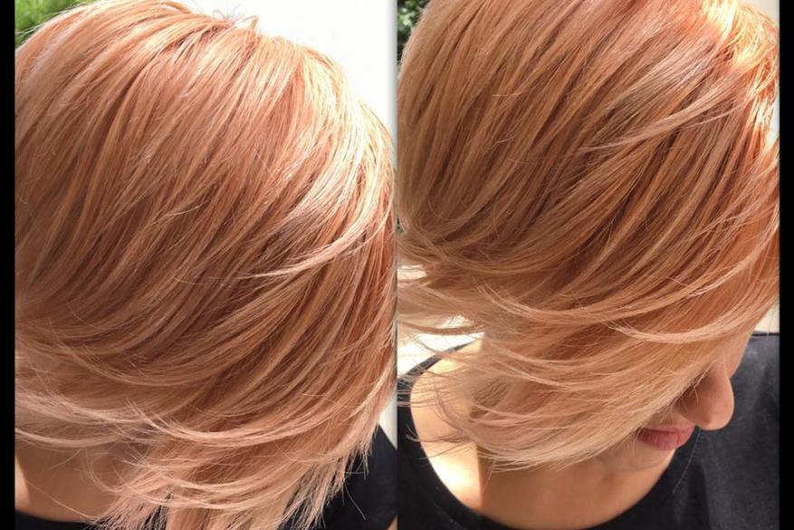 Peach Ροδακινί Bob Hair Κοντό