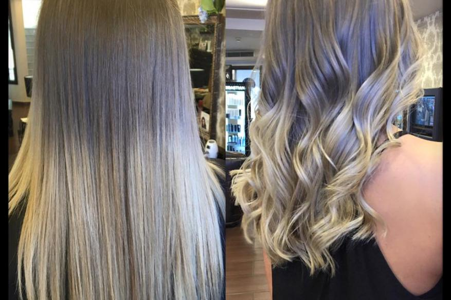 Ombre Cool Bronde Blonde Hair Styling