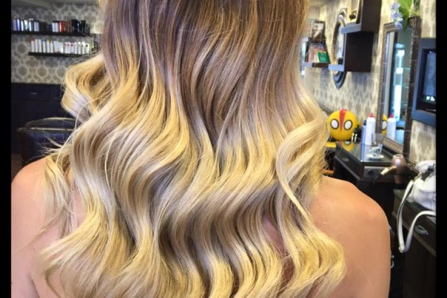 Ombre Blonde Brown Mali Expressions Όμπρε Ξανθό Ρεφλέ Χτένισμα