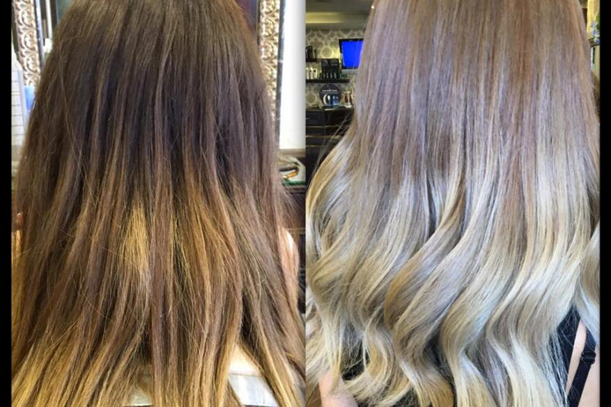 Ombre Color Change Technique Mali Expressions Blonde White Όμπρε Ξανθό Ανοιχτό Αλλαγή Χρώματος