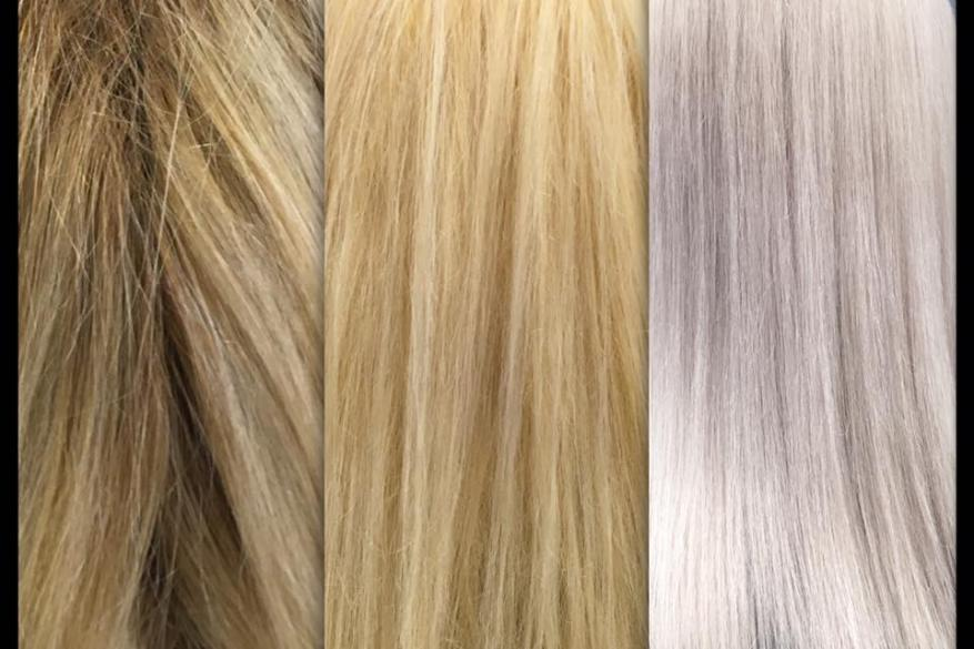 Blonde Blondor Bleach White Long Healthy Hair Color Change Αλλαγή Χρώματος Άσπρο Ξανθό Ντεκαπάζ