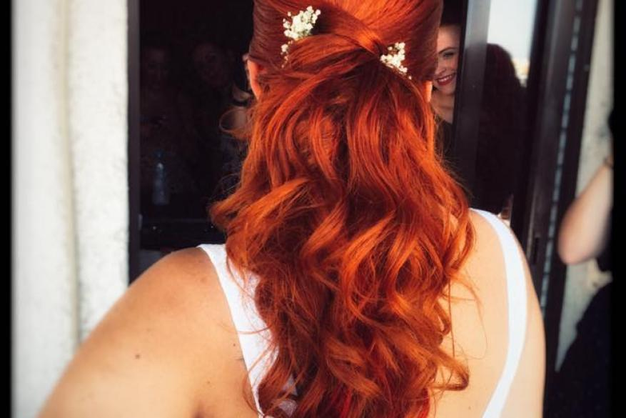 Bridal Hairstyling Copper Bride Mali Expressions Νυφικό Χτένισμα Χάλκινο