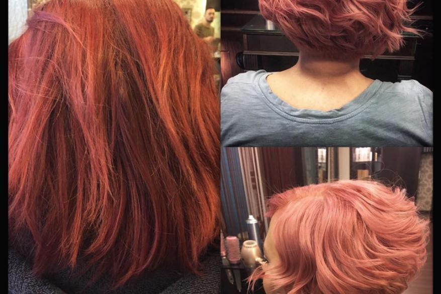 Color Change Before After Red Pink Αλλαγή Χρώματος Ροζ