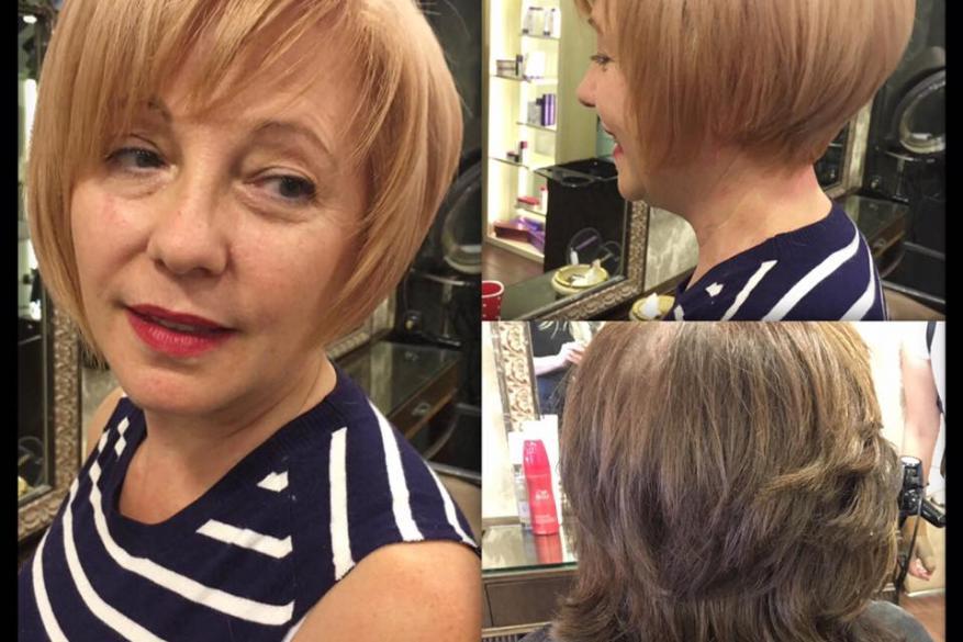 Blonde Short Hair Before After Lightener Ξανθό Κοντό Μαλλί Αλλαγή Χρώματος