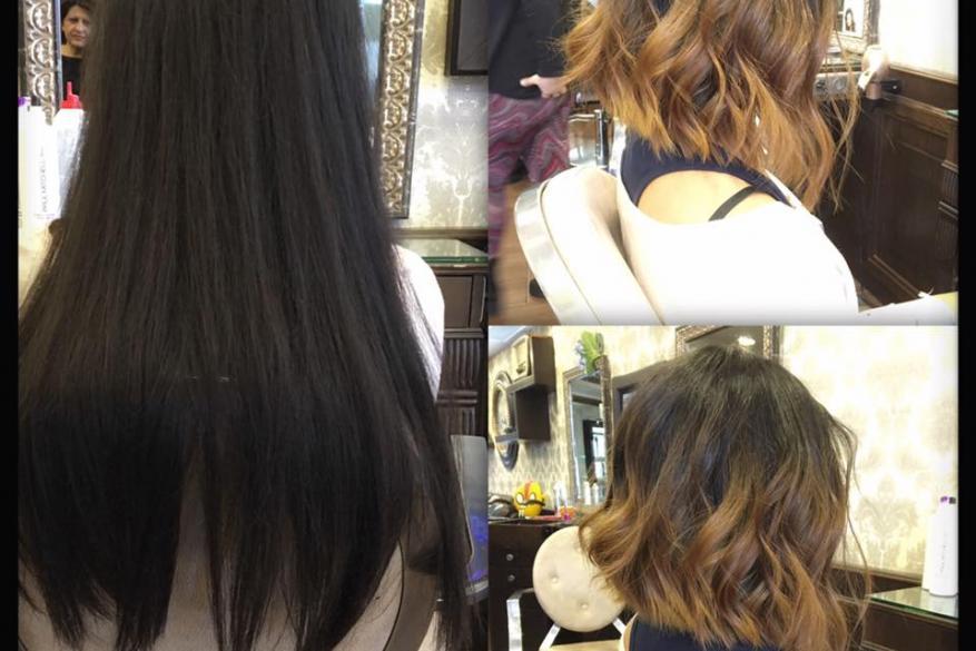 Before After Ombre Short hair Αλλαγή Κούρεμα Χρώμα Όμπρε