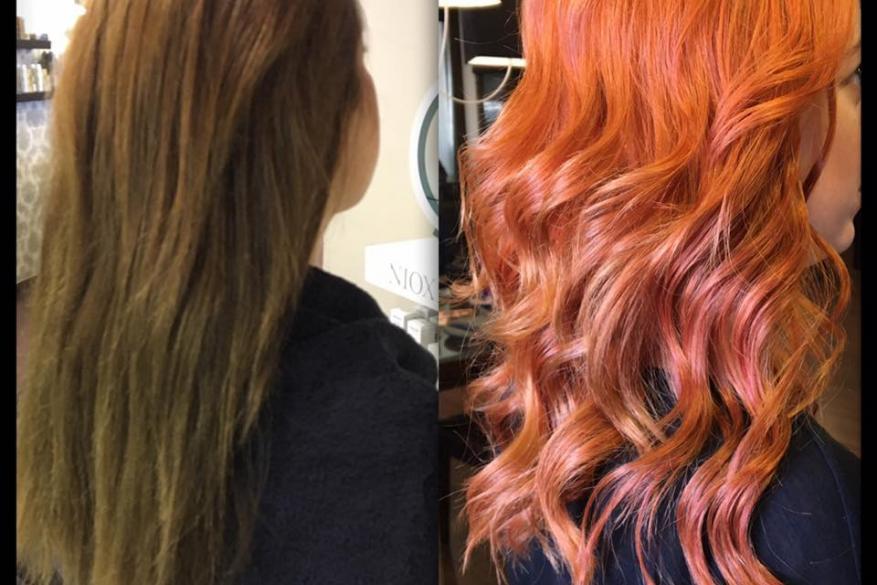 Before After Color Change Light Copper Αλλαγή Χρώμα Ανοιχτό Χάλκινο