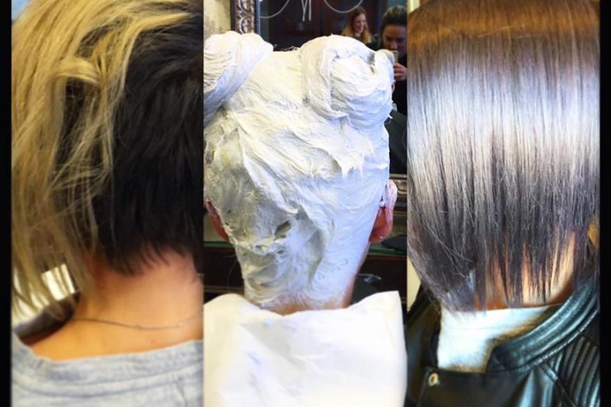 Silver Healthy Short hair Bleach Ντεκαπάζ Ασημί Ξανθό