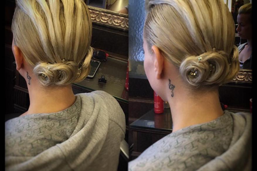Latin Competitive Hairstyles Blonde Αγωνιστικό Χορευτικό Χτένισμα Ξανθό