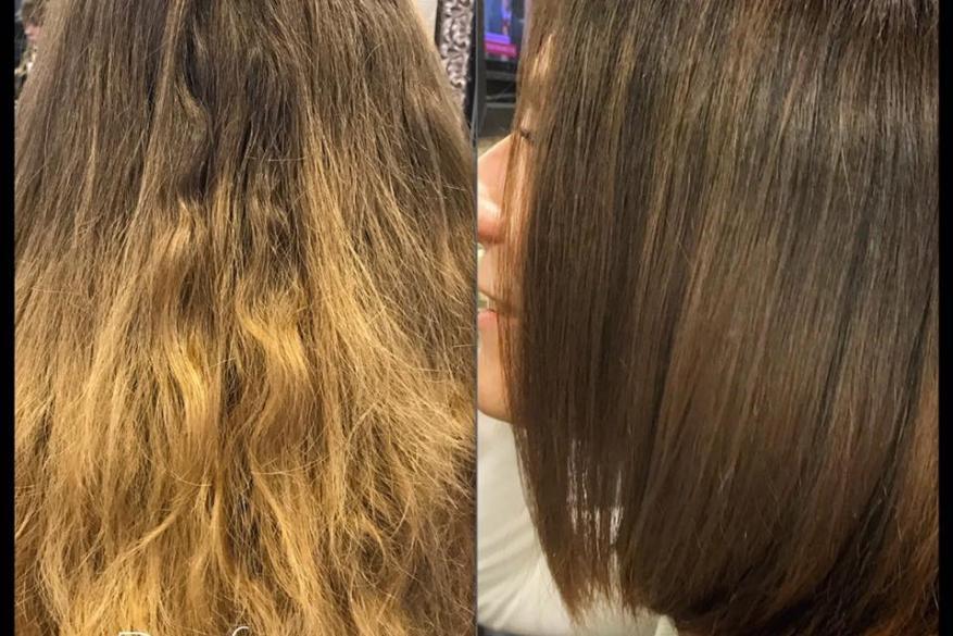 Before After Haircut Καρέ Κοντό Κούρεμα Πριν Μετά Όμπρε