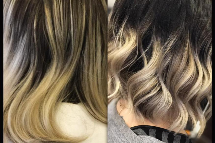Color Correction Blond Ombre Ξανθό Όμπρε Διόρθωση Χρώματος