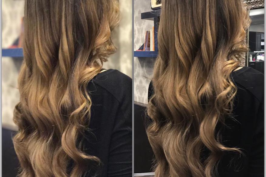 Long Hair Lowlights Blonde Μακρύ Τεχνική Ξανθό Καστανό