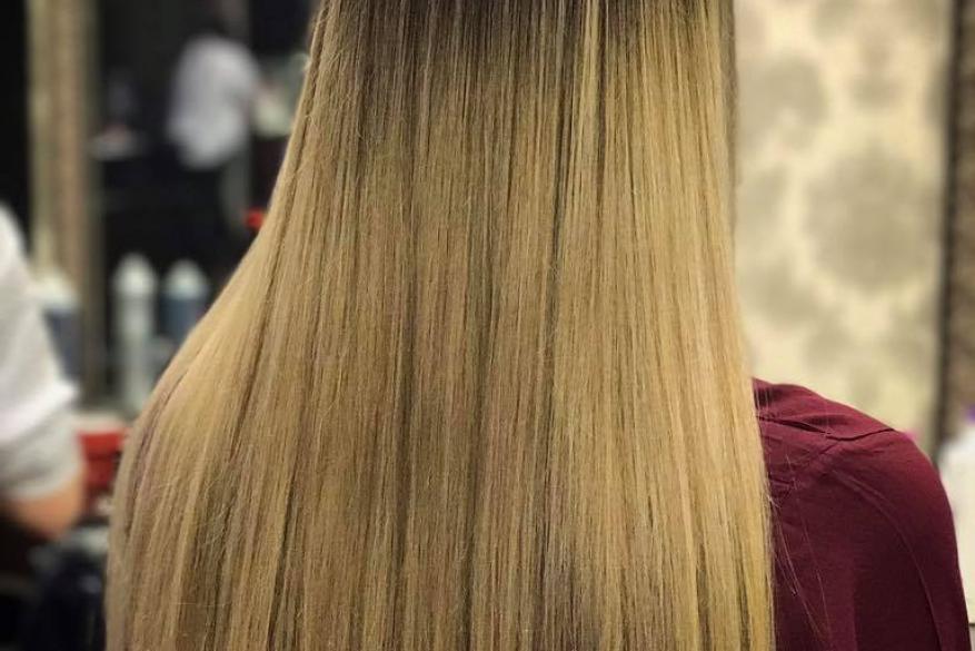 Straight Long Hair Ombre Balayaze Μακρύ ίσιο Χτένισμα όμπρε Μπαλαγιάζ