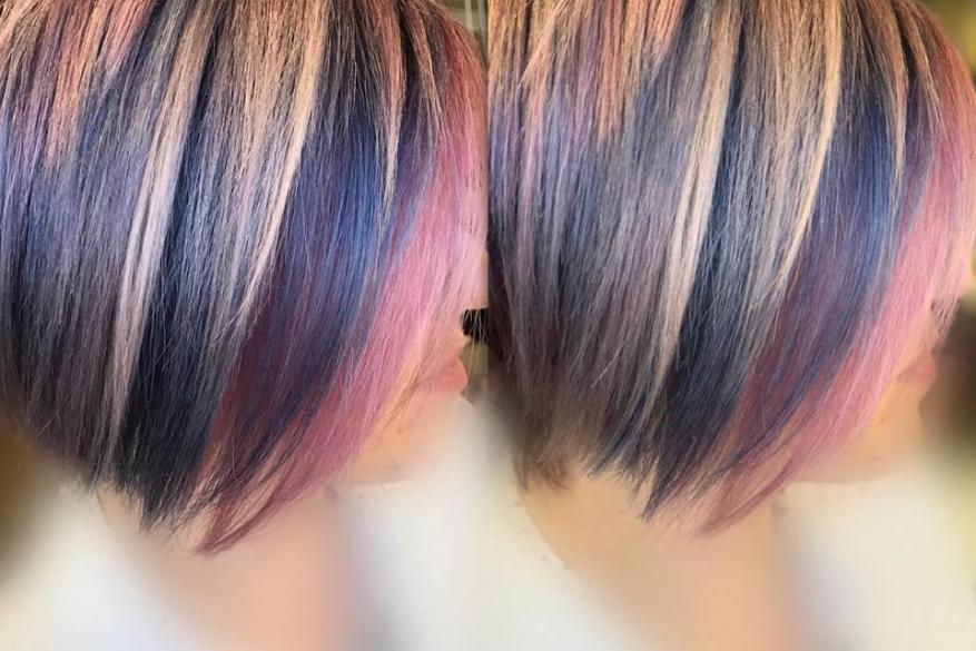 Μπλε Ροζ Γκρι Ξανθό Rainbow