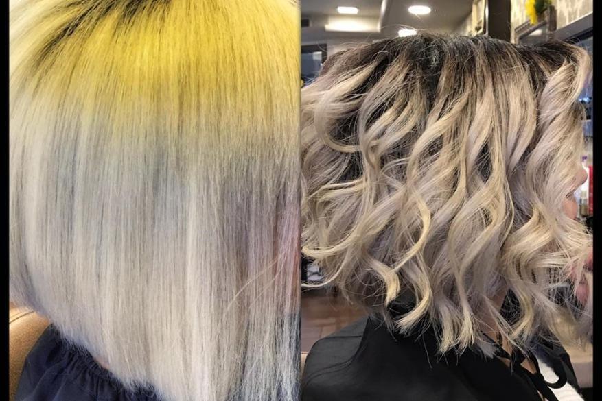 Ξανθό Πυκνό Κοντό Σκούρα Ρίζα Human Hair Extensions Ombre Blonde